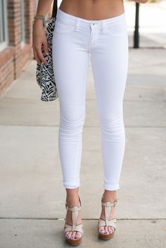 White skinnies #swoonboutique