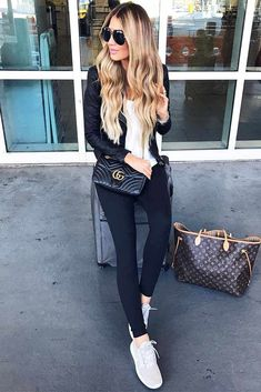 Fall Travel Outfit Ideas From Girls Who Are Always on the Go ★ See more: http://glaminati.com/fall-travel-outfit-ideas/
