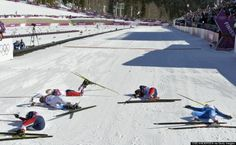 2014 Winter Olympics Sochi Russia -- Nothing Says 'Exhaustion' Quite Like The Finish Line Of An Olympic Skiathlon