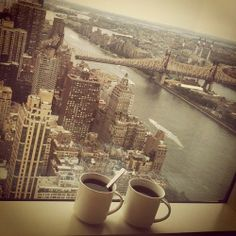 NYC. Confortable view from Manhattan looking towards Queensboro Bridge over East River