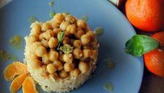 Καστανό ρύζι και ρεβίθια με άρωμα μανταρινιού!!! Black Eyed Peas, Greek Recipes, Chana Masala, Risotto, Beans, Vegetables, Ethnic Recipes, Food, Bye Bye