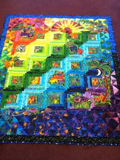 A very different quilt. Many design concepts in this quilt could be incorporated into other quilts.