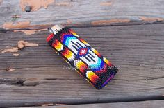 Native American Beaded Lighter Cover  WARRIOR by CheyenneNoon, $80.00