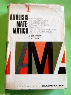 ANALISIS MATEMATICO REY PASTOR TREJO CALLEJA VOLUME 1 CALCULUS XRARE SPANISH