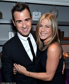 Power couple: Aniston and Justin Theroux, 44, became engaged in 2012 and were married three years later in August 2015 at their Bel Air estate (pictured September 2014)
