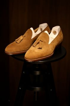 Saint Crispin's - Snuff Suede Loafers
