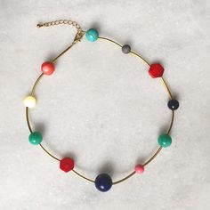 Necklace made of colorful stones. Lapis Lazuli, Jade, Beaded Necklace, Jewellery, Stone, Elegant, Color, Beaded Collar, Classy