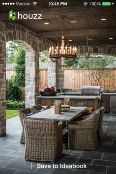 Outdoor Room & Outdoor Kitchen Decorating & Design Ideas- Pictures of Outdoor Rooms on Decks, Patios and Porches : Home & Garden Television Outdoor Rooms, Outdoor Dining, Outdoor Furniture Sets, Outdoor Decor, Dining Area, Furniture Ideas, Outdoor Patios, Wicker Furniture, Furniture Layout