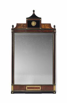 date unspecified A RUSSIAN BRASS-MOUNTED MAHOGANY, WALNUT AND EBONISED MIRROR 19TH CENTURY Price realised GBP 3,750