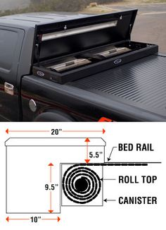 American Work Cover Retractable Tonneau Toolbox Combo by Truck Covers USA Work Cover Full Size Retractable Bed Covers by Truck Covers USA New Trucks, Custom Trucks, Cool Trucks, Chevy Trucks, Pickup Trucks, Lifted Chevy, Jeep Pickup, Chevy Duramax, Truck Accesories