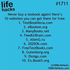 Free textbooks -- something to look into!!