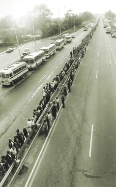 On the 23th of August 1989 two million people across Estonia, Latvia and Lithuania joined hands, creating a human chain, to protest peacefully against the Soviet .occupation  In 1991 they gain their independence from Soviet occupation.