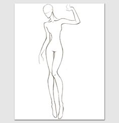 Female Body Template For Fashion Design Printable Worksheets Printables Outline