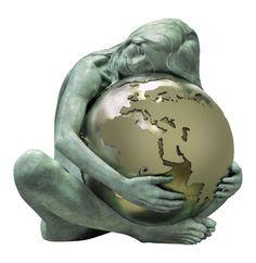"""Gaia"" by Lorenzo Quinn Italy Rodin, Stone Sculpture, Sculpture Art, Lorenzo Quinn, Gaia Goddess, Lilies Drawing, Peace Art, Foto Art, Gods And Goddesses"