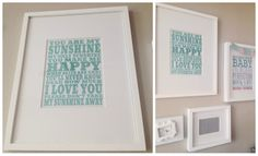eighteen25: You Are My Sunshine Print. In lots of colors and free printable!