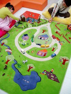 Modern fashion customized size Kids Play Rug, kids floor rug, kids play area rugs for girl Childrens Play Mat, Toddler Play, Kids Area Rugs, Kids Play Area, Manta Animal, Farm Rugs, Woven Image, Target Rug, Child Room