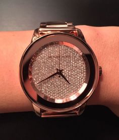 michael kors kinley pave rose gold watch - Google Search