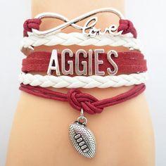 Infinity Love Texas A&M Aggies Football Bracelet BOGO