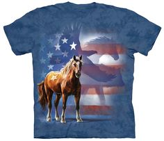 FREE Shipping for a Limited Time! So Grab Yours Now! If you LOVE Horses & America then this VERY UNIQUE shirt is perfect for you! Showcase your Horse Love & Pride in America at the same time when you