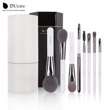 DUcare Makeup Brushes set Fundação delineador Lábio Sobrancelha Kits de Ferramentas de Escova cosméticos compõem kwasten Brush Set com Suporte Branco
