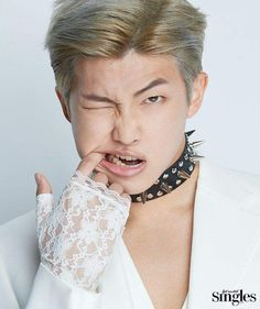 Rapmon loves to put his fingers in his mouth. His signiture move