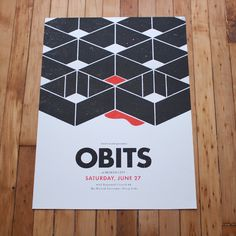 Poster for Obits at Sled Island by Justin LaFontaine