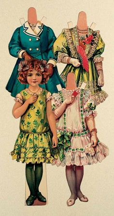 "Paper Dolls, 1790-1940 - The Collection of Shirley Fischer: 255 English Paper Doll ""Alice"" by Raphael Tuck"