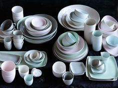 Mud australia... porcelain made from mud from the Limoges area in France... stunning and stylish.