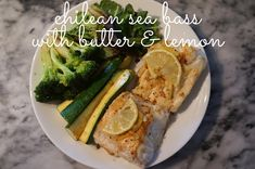 seared chilean sea bass with butter & lemon
