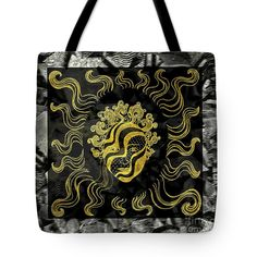 Golden Tote Bag featuring the photograph Golden God by Nareeta Martin