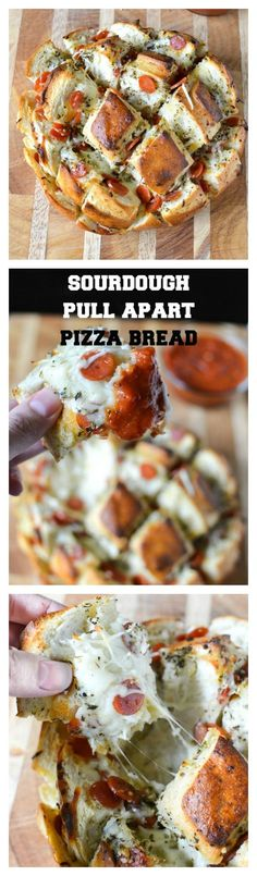 This insanely good pull apart pizza bread takes all of 5 minutes to  prepare, and is done in under 30 minutes. Easy, cheesy, pizza  deliciousness. Perfect for game day!