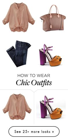 """<3"" by martina-vacca on Polyvore featuring Gucci, Louis Vuitton and 7 For All Mankind"