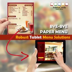 Tablet Menu Solutions to Turn Around Your Business!!  Know More about Our Excellent Products Here: http://www.imenucards.in/      #NoMorePaperMenu