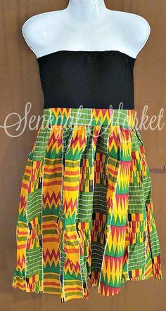 Abbigliamento in african wax - Abiti a ruota di SenegalMarket su Etsy