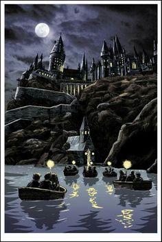 Spooky hogwarts painting