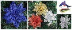 Aprende cómo hacer flores navideñas con silicón caliente ~ Haz Manualidades