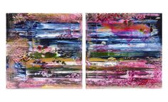 Playful Lilies Diptych Playtime 2015 - Jessica Zoob