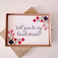 """Will you be my bridesmaid?"" invitation #wedding"