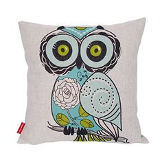 Kingla Home Cotton Linen Square Decorative Throw Pillow Covers 18 X 18 Inch Custom Pillow Cases Cushion Cover for Sofa Cute Cartoon Green Owl Kingla Home http://www.amazon.com/dp/B0159UXD6I/ref=cm_sw_r_pi_dp_CB7qwb11N2D0Z