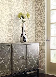 #wallpapersilver, #wallpapermetallic, #kainternational Brand Collection, Cabinet, Storage, Wallpaper, Furniture, Metallic, Design, Home Decor, Search