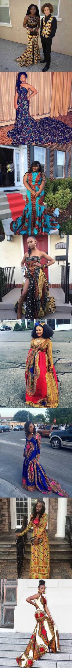 #Prom2016! Beautiful African Print Prom Dresses | Fashion | Peacefmonline.com