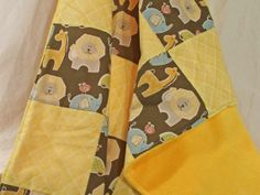 Patchwork and Minky Cuddly Baby Blanket by Twisted Tree Knitting