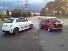 Old School VS New School Abarth Fiat 500