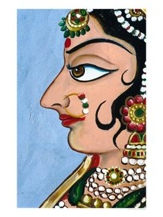 37 Ideas Embroidery Face Outline For 2019 Phad Painting, Mural Painting, Mural Art, Fabric Painting, Circle Painting, Art Sketches, Art Drawings, Fashion Sketches, Rajasthani Art