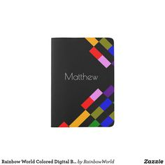Shop Rainbow World Colored Digital Blocks Black Passport Holder created by RainbowWorld. Passport Holders, Passport Wallet, Brand Name Clothing, Clothes For Sale, Hand Sewing, Rainbow, Digital, Trending Outfits, World