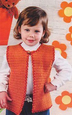 Схема вязания крючком, жилет на девочку 2 лет, р-р 92 см