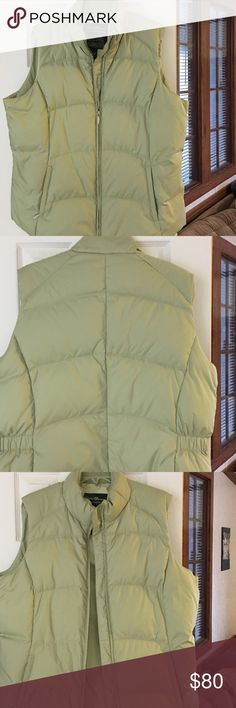 Georgeous Green Eddie Bauer vest Georgeous Green Eddie Bauer vest. XLT Priced low for quick sell. Make me a reasonable offer. Eddie Bauer Jackets & Coats Vests