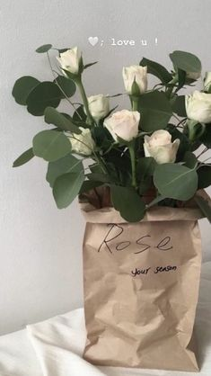 Love At First Sight, Loving U, Paper Shopping Bag, Aesthetics, Rose, Heart, Anime, Pink, Roses