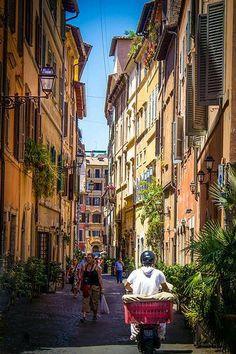 Vistas calle de Florencia Italia