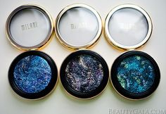 Milani Cosmetics Constellation Gel Eyeliners, Swatches and Review!